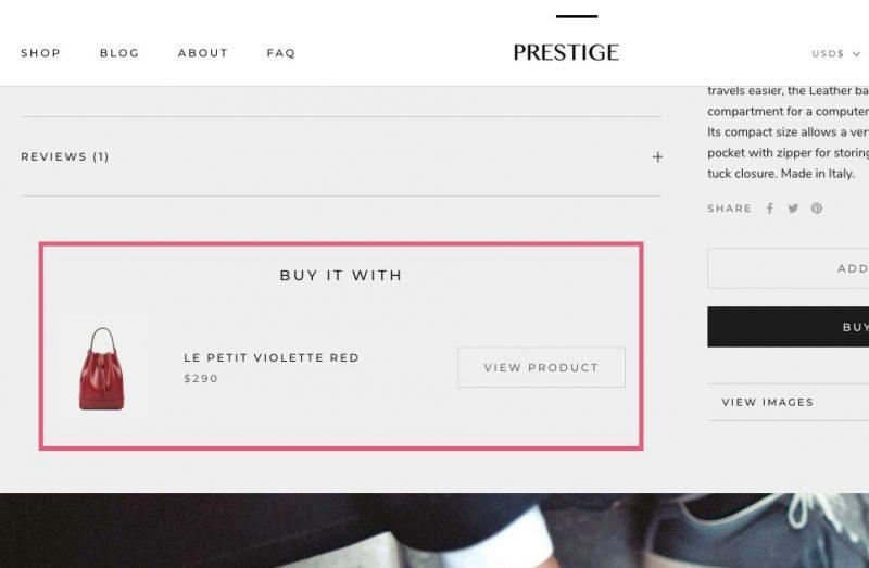 Shopify Prestige BIY IT WITH 表示方法